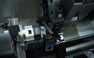 Calibration on a machine tool with the XR20-W rotary axis calibrator